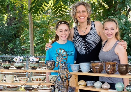debra griffin demo and pottery at the ashland farmers market in Ashland, Massachusetts