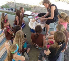 brownie troupe demo for potter badge in Ashland, MA