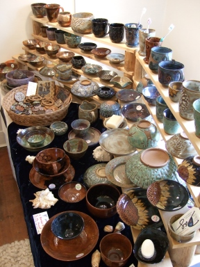 Debra Griffin pottery and art at Spring Arts Festival in Hopkinton