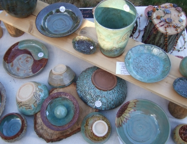 pottery on sale at Jamaica Plain Open Studios
