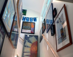 the stairway to my open studio