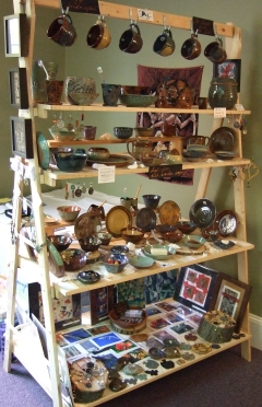 Debra Griffin pottery on display at Roots and Wings Annual Artisan Market and Benefit
