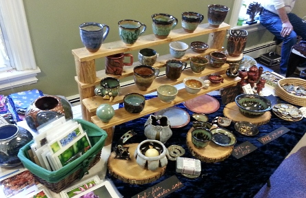 debra griffin, pottery sale, roots and wings artisan market 2016, Natick, MA