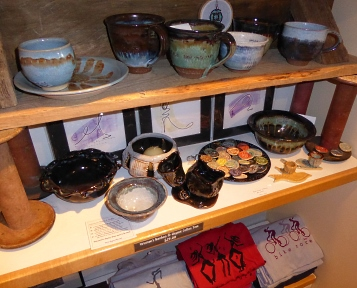 debra griffin pottery at uni_T in the Natick Collection, a mall in Massachusetts